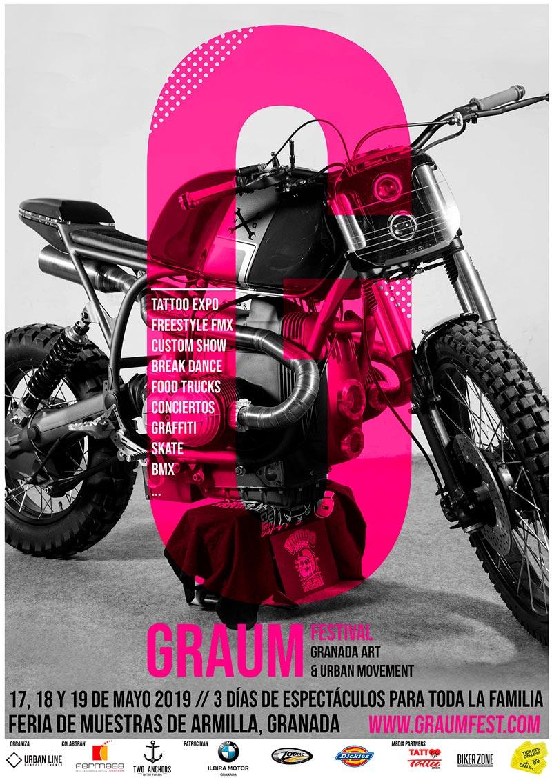 Cartel Graum Fest para el Bike Show 2019