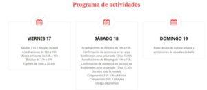 Programa de actividades del breaking