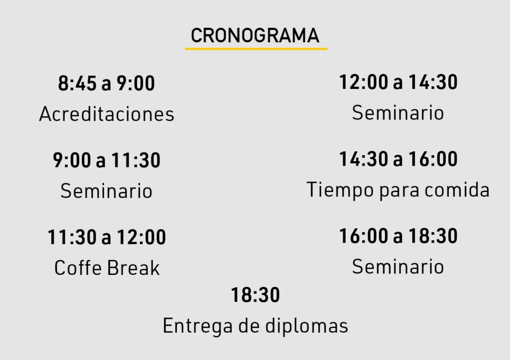 Cronograma Múlti-seminario